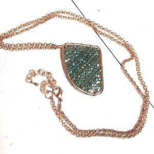 Gorgeous long Swarovski crystal pendant necklace